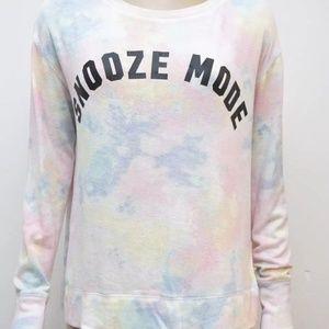 Snooze Mode VS Pink Jersey Sleep Top